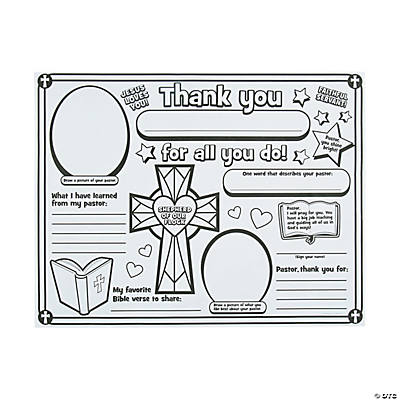 "Color Your Own ""All About My Pastor"" Posters"