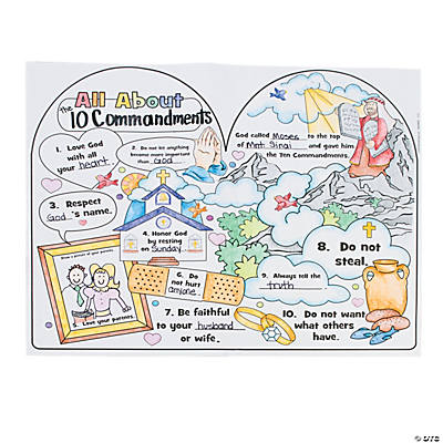 Color Your Own All About the 10 Commandments Posters