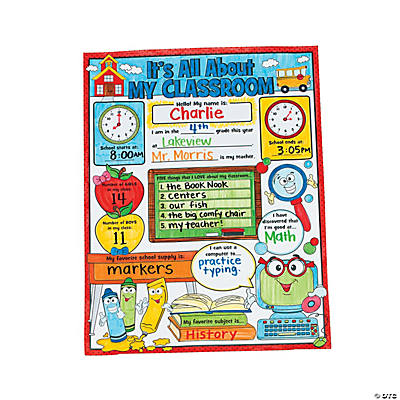 "Color Your Own ""It's All About My Classroom"" Posters"