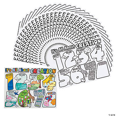 "Color Your Own ""It's All About Creation"" Posters"
