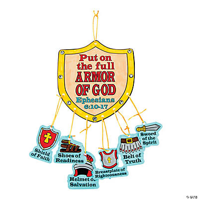 "Color Your Own ""Armor of God"" Mobile Craft Kit"