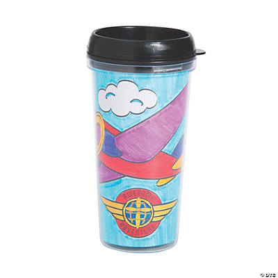Color Your Own Awesome Adventure Travel Cups