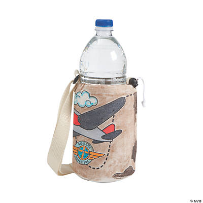 Color Your Own Awesome Adventure Water Bottle Holders
