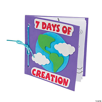 Color Your Own Book About the 7 Days of Creation Craft Kit