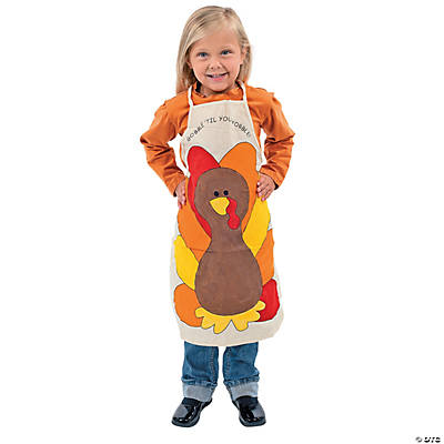 Color Your Own Canvas Thanksgiving Apron