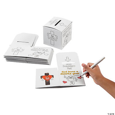 Color Your Own Cheerful Giver Offering Boxes