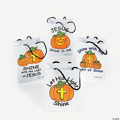 Color Your Own Christian Pumpkin Mini Treat Bags