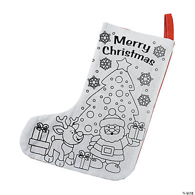 Color Your Own Christmas Stockings