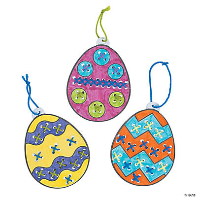 Color Your Own Cross Stitch Easter Ornaments Craft Kit