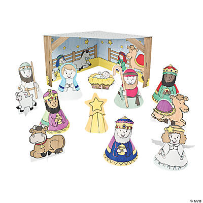 Color Your Own 3D Nativities