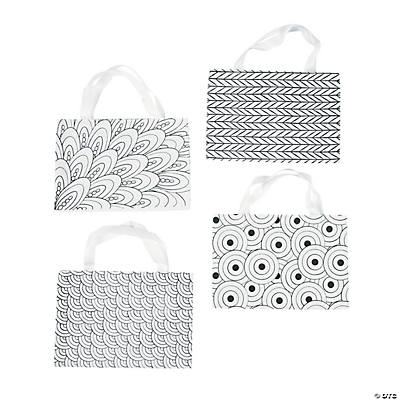 Color Your Own Doodle Canvas Tote Bags