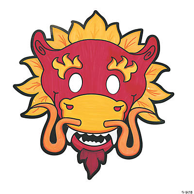 Color Your Own Dragon Masks
