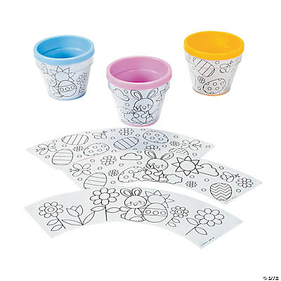 Color Your Own Easter Artist Flowerpots