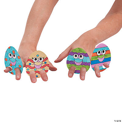 Color Your Own Easter Egg Finger Puppets