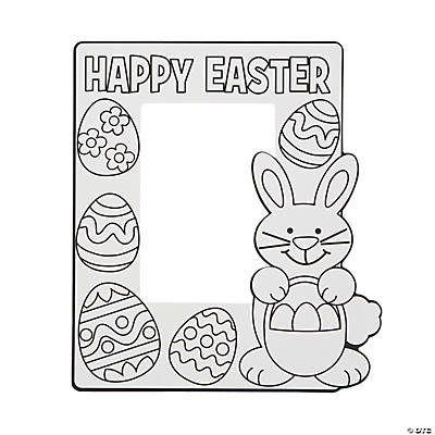 Color Your Own Easter Picture Frames