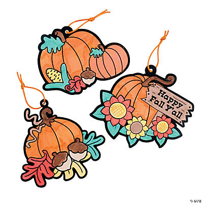 Color Your Own Fall Pumpkin Ornaments