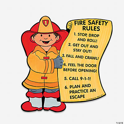 "Color Your Own ""Fire Safety Rules"""