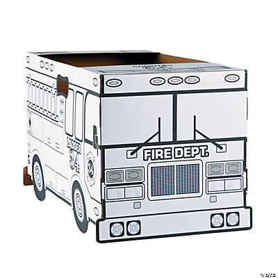 Color Your Own Fire Truck Costume