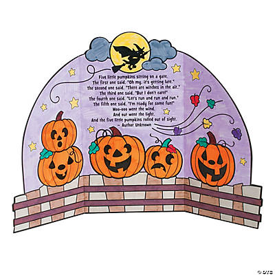 Color Your Own Five Little Pumpkins Stories