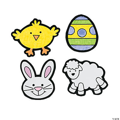 Color Your Own! Fuzzy Easter Magnets