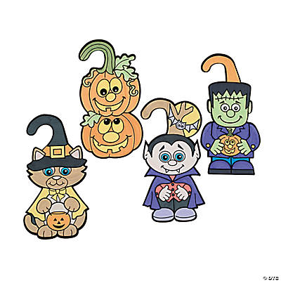 Color Your Own Fuzzy Halloween Door Hangers