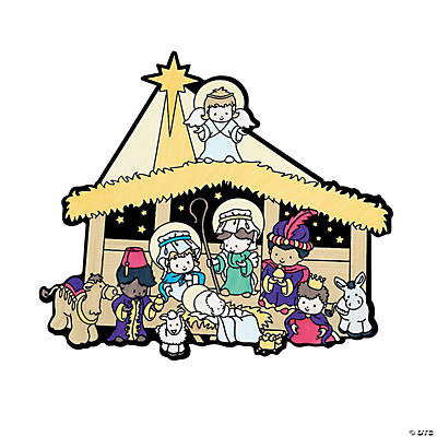 Color Your Own Fuzzy Nativity Scenes