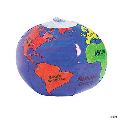 Color Your Own Globe Mini Beach Balls
