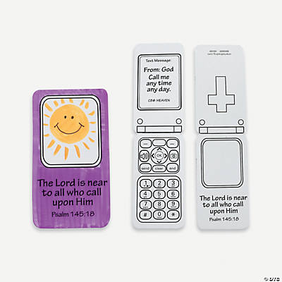 Color Your Own God Calls Cell Phone Cutouts
