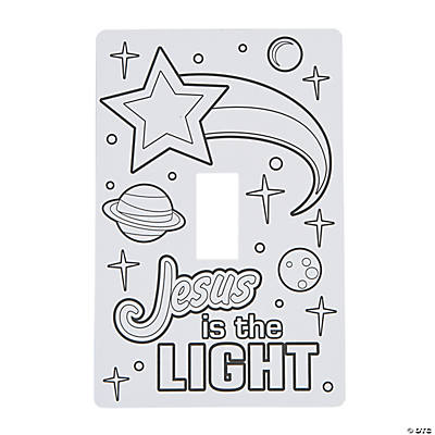 Color Your Own God's Galaxy VBS Light Switch Covers