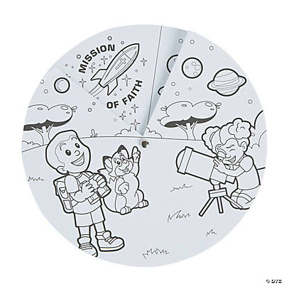 Color Your Own God's Galaxy VBS Story Wheels