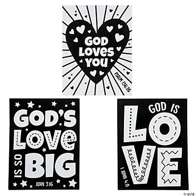 Color Your Own God's Love Fuzzy Posters