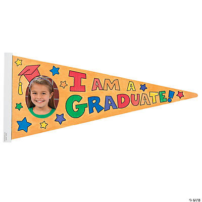 Color Your Own Graduation Photo Frame Pennants