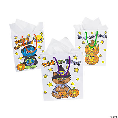 Halloween Bags no sew halloween treat bags tutorial Color Your Own Halloween Bags
