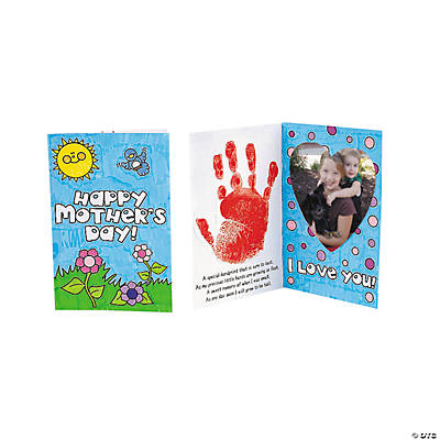 color your own handprint mothers day picture frame card craft kit - Mothers Day Picture Frame