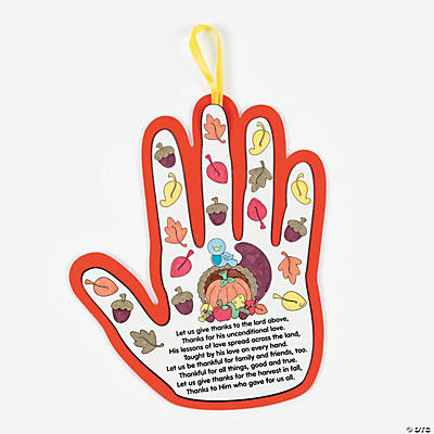 Color Your Own Handprint Thanksgiving Poems