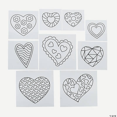Color Your Own Heart Iron-Ons