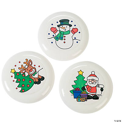 Color Your Own Holiday Flying Disks