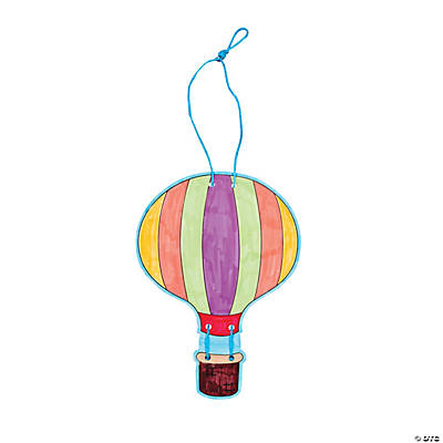 Color Your Own Hot Air Balloon Slider Craft Kit