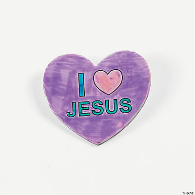 "Color Your Own ""I Love Jesus"" Pins"