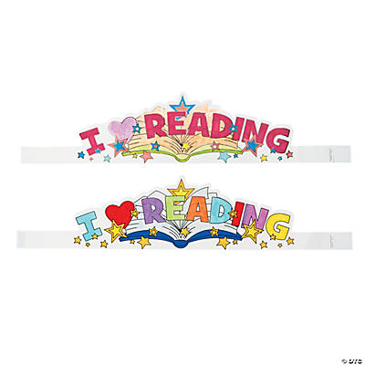 "Color Your Own ""I Love Reading"" Crowns"