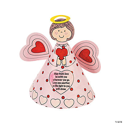 Color Your Own Inspirational Valentine Angels