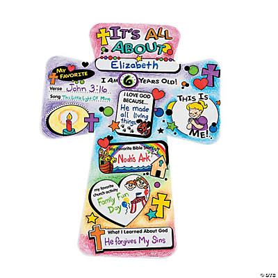 "Color Your Own ""It's All About Me"" Cutout Crosses"