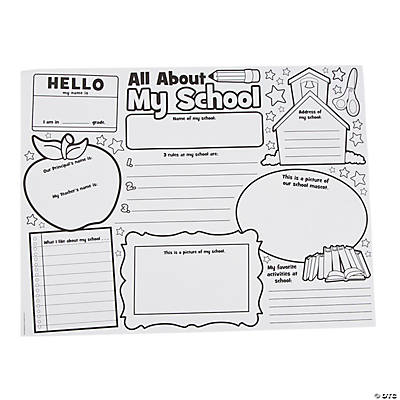 "Color Your Own ""It's All About My School"" Posters"