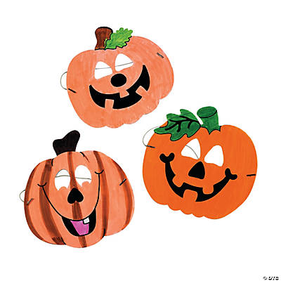 Color Your Own Jack-O'-Lantern Masks