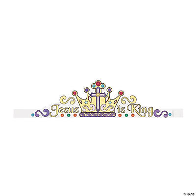 "Color Your Own ""Jesus Is King"" Crowns"