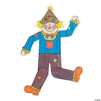 Color Your Own Jointed Scarecrows