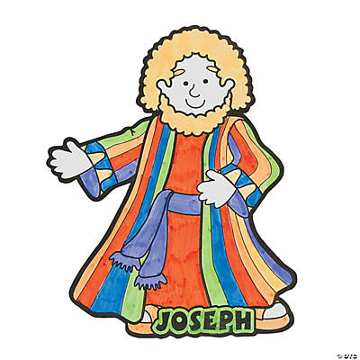 Color Your Own Joseph & the Technicolor Coat Cutout