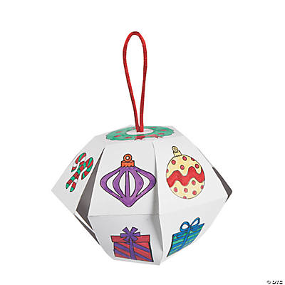 Color Your Own Lantern Christmas Ornaments