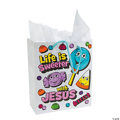 "Color Your Own ""Life Is Sweeter with Jesus"" Bags"