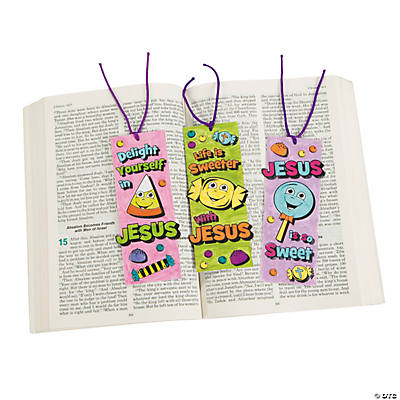 "Color Your Own ""Life Is Sweeter with Jesus"" Bookmarks"